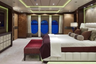 Owners Suite on the luxury yacht Kaiser