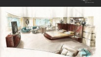 Owners suite on the MotorYacht Z