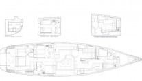Oyster 885 Yacht CLARE -  Layout
