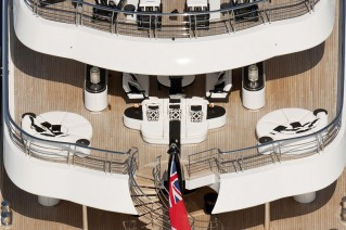 PHOENIX 2 view of aft decks from above - Photo credit Lurssen