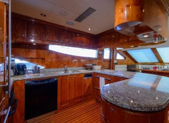 Luxury Yacht Charter Primetime Country Kitchen Horizon
