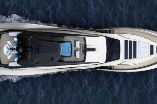 Palmer Johnson 48 Yacht - upview
