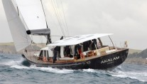 Pendennis 32 m sailing yacht AKALAM at her sea trials - Design by Barracuda Yacht Design