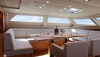 Perini Navi Yacht XNOI -   Salon Dining to Port