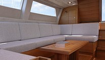 Perini Navi Yacht XNOI -   Salon Seating to Starboard