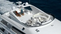 President 107 superyacht from above