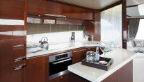 Princess 72 MY Galley - Image courtesy of Princess Yachts International