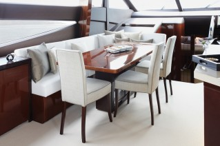 Princess 72 Yacht Dining Area - Image courtesy of Princess Yachts International