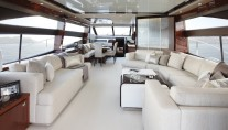 Princess 72 motor yacht salon - Image courtesy of Princess Yachts International