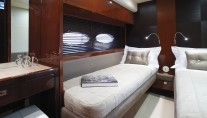 Princess 72 motor yacht twin cabin - Image courtesy of Princess Yachts International