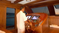 Queen of Karia Yacht - Wheelhouse