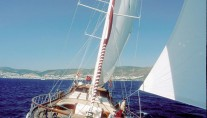 Queen of Karia Yacht under sail