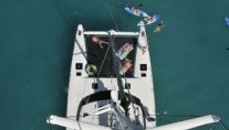 Quest - Foredeck from Mast.