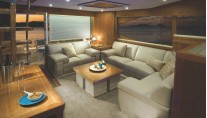R75 Yacht - Forward Galley Saloon