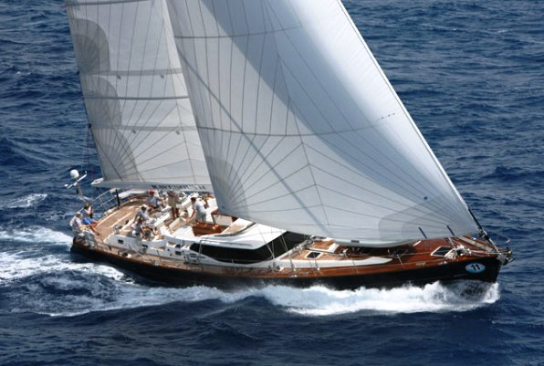 RAVENOUS, the Oyster 82 Sailing Yacht offers a great feeling of space below ...