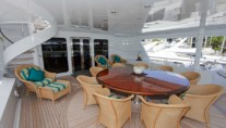 RELENTLESS - Upper aft deck dining
