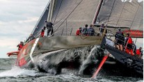 Racing yacht Comanche under sea trials - Photo by George Bekris via Scuttlebut Sailing News