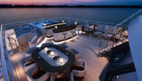 Red Square Mega Yacht Bridge Deck - Image courtesy of Dunya Yachts