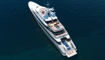 Red Square Mega Yacht View From Above   - Image courtesy of Dunya Yachts