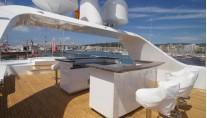 Refitted exterior aboard superyacht Paramour