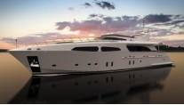 Rendering of Jafe Tica Yachts by Dragon Yachts