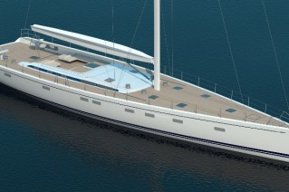 Rendering of Swan 115 FD Yacht - Image credit to Nautors Swan