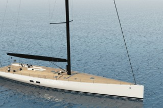 Rendering of WallyCento Yacht Hull no. 3