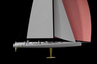 Rendering of the 30m superyacht Rio 100 - Image courtesy of Brett Bakewell-White