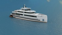 Rendering of the 45m superyacht AQUARIUS (NB93) by Mengi Yay