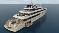 Rendering of the 75,80m mega yacht ICON 250 by ICON Yachts and Tim Heywood