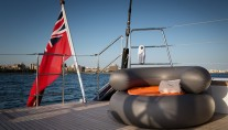 Royal Huisman S:Y Sea Eagle - Photo by Carlo Baroncini Photography - Beach Deck Detail