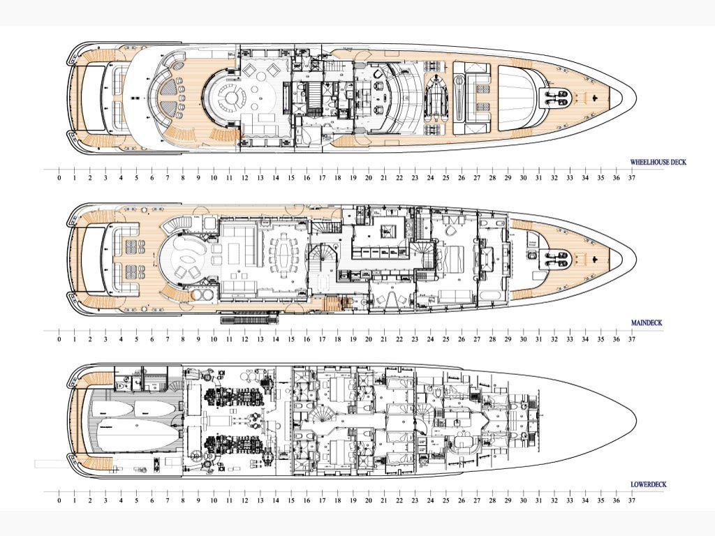 Heesen Yachts  layout