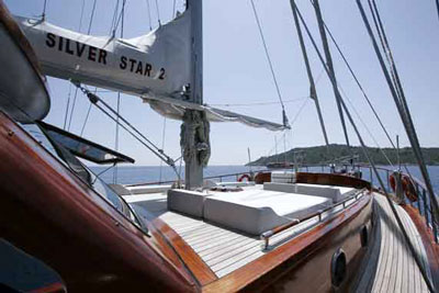 Silver star on deck
