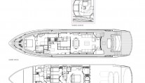 SIMPLE PLEASURE - Deck layout credit Sunseeker Yachts