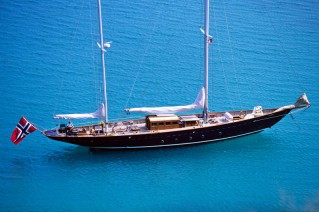 SINCERITY -  At Anchor in the Carribean
