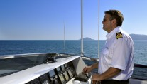 SL100 ARIA -  At the Helm on the Flybridge