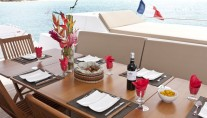 SLIVOCHKA -  Dining of the Aft Deck