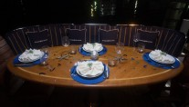SUMMER SPLENDOR - Aft deck dining
