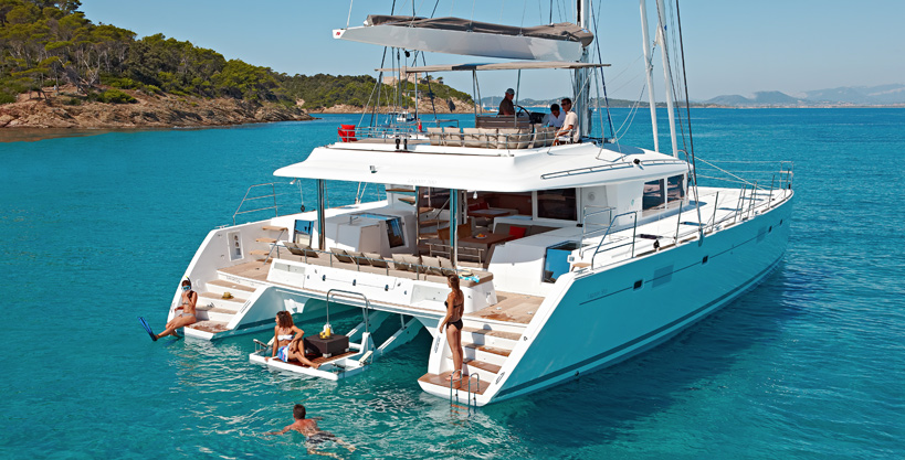 Sy a2 swim platform luxury yacht browser by for By the cabin catamaran charters