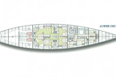 SY ANDROMEDA LA DEA - Lower deck layout