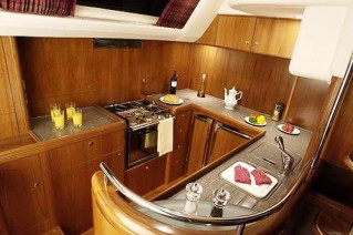 Sailing yacht mustique vt halmatic luxury yacht Ship galley kitchen design