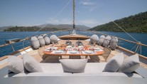 SY SILVER MOON - Foredeck dining