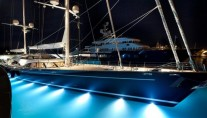 SY Twizzle launched by Royal Huisman - by night