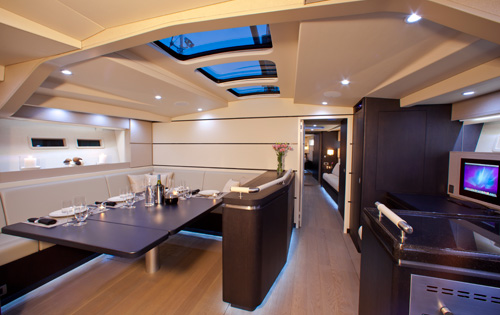 Sail Yacht AEGIR - Salon and dining