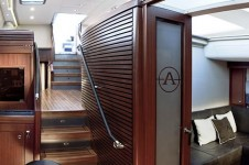 Sail Yacht AIYANA -  Interior looking aft