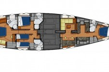 Sail Yacht AIYANA -  Layout