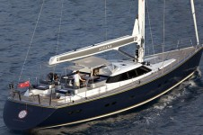 Sail Yacht AIYANA -  View from Aft
