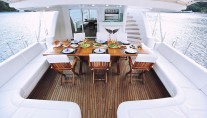 Sail Yacht ANGELO II -  Aft Deck Dining