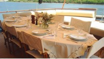 Sail Yacht DOLCE VITA -  Aft Deck Dining