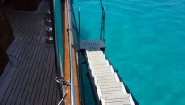 Sail Yacht DOLPHIN - Boarding Ladder